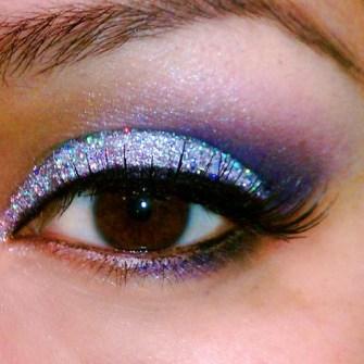 Maquillaje de Fiesta en Navidad - Sombras con purpurina