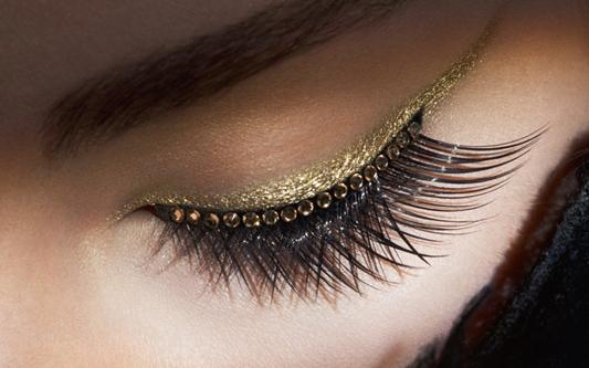 Maquillaje de Fiesta en Navidad - Sombras con pan de oro