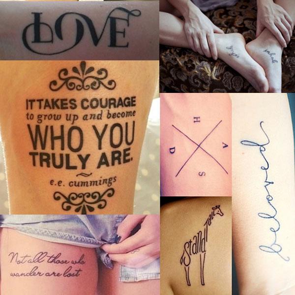 Tatuajes de Leyenda y Typography tattoos