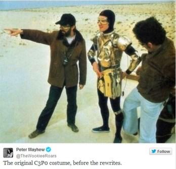 Fotos inéditas de Star Wars - C3PO a medio vestir