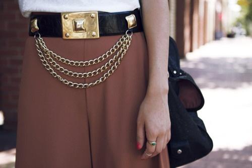 Cinturón Joya con cadenas