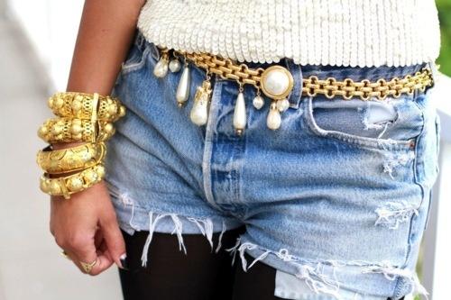 Cinturón Joya con perlas