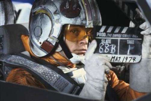 Fotos inéditas de Star Wars - Luke Skywalker bromeando