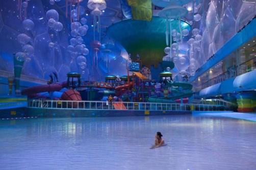 Beijing transforma un Pabellón Olímpico en Parque Acuático.