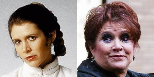 La Princesa Leia antes y ahora