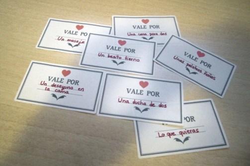 Detalles Geniales para San Valentín - Vales canjeables por besos de Amor