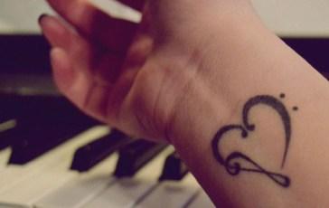 Tatuajes Inspiradores para San Valentín - Corazón Musical