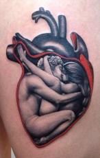 Tatuajes Inspiradores para San Valentín - Corazones Realistas