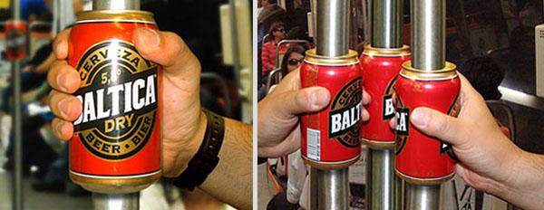 Campañas Publicitarias que Llamarán tu Atención - Cerveza Báltica en el Metro