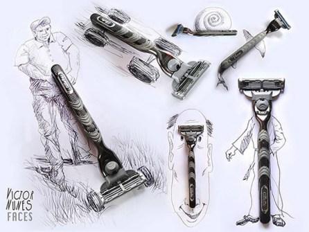 Ilustraciones en 3D que están a tu alcance - Maquinillas de afeitar