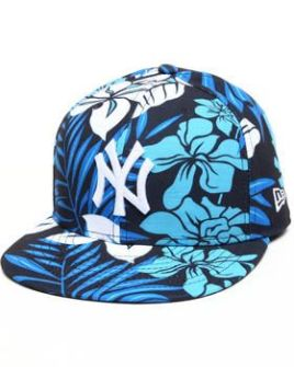Gorra Plana New York Yankees tropical