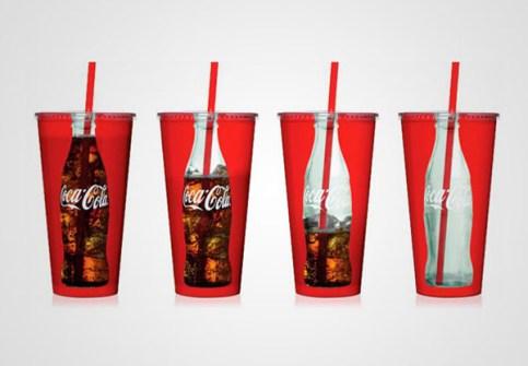 El Packaging con Mejor Diseño - Vasos de Coca Cola