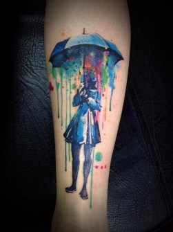 Tatuajes Acuarela - Víctor Octaviano - Santo André, Brasil