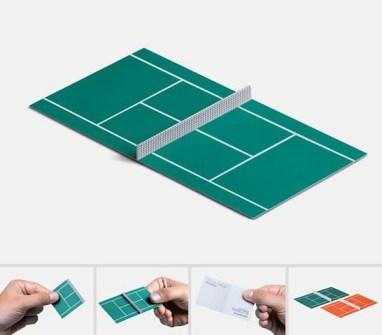 Tarjetas de Visita Ultra Creativas - Clases de Tenis