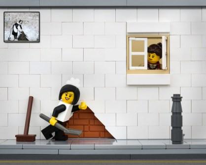 Fusión de Banksy y LEGO - Maid in London