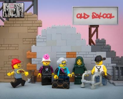 Fusión de Banksy y LEGO - Old Skool