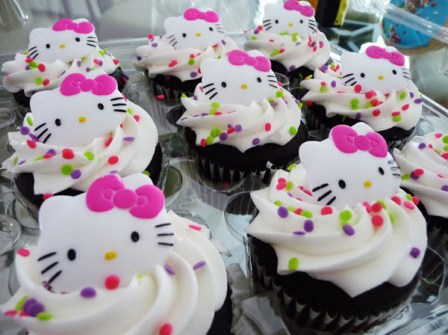 Bocaditos de Hello Kitty - Cupcakes de Hello Kitty