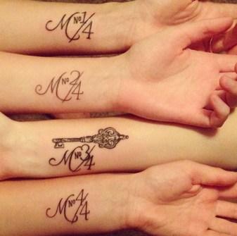 Tatuajes de Mejores Amigas que os harán Inseparables.