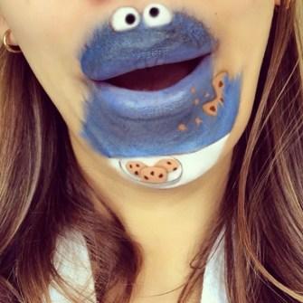 Labios Caricaturizados - El Monstruo de las Galletas