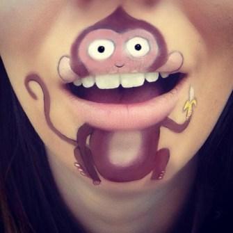 Labios Caricaturizados con Personajes Infantiles
