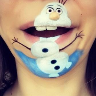 Labios Caricaturizados - Olaf Frozen