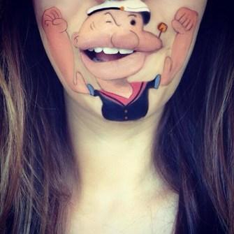 Labios Caricaturizados - Popeye
