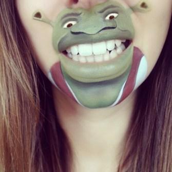 Labios Caricaturizados - Shrek