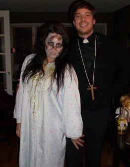 """Disfraces para ir en Pareja - Disfraz de """"El Exorcista""""."""