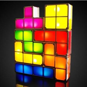 21 Gadgets Frikis que querrás para ti - Lámpara ambiental Tetris