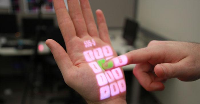 Teclados Led para trabajar desde tu Smartphone - Omnitouch