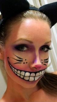 Maquillaje de Halloween - Gato Cheshire