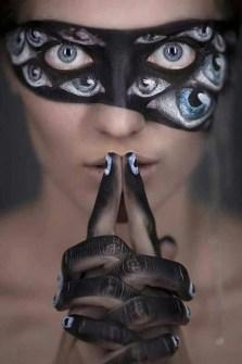 Maquillaje de Halloween - Antifaz de ojos