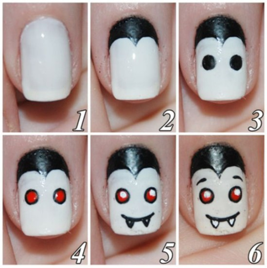 Uñas para Halloween de vampiro