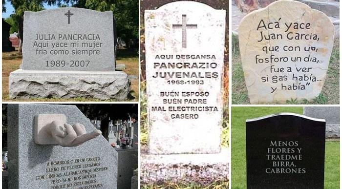 13 Lápidas con Sentido del Humor Políticamente Incorrectas.