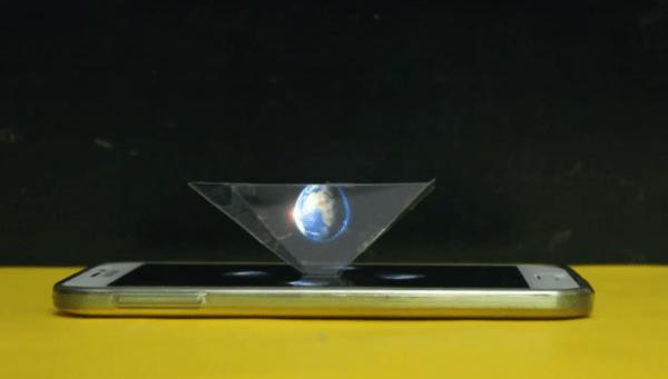Cómo hacer un proyector de hologramas para móvil.