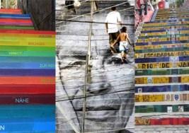 Arte en escaleras del Mundo.