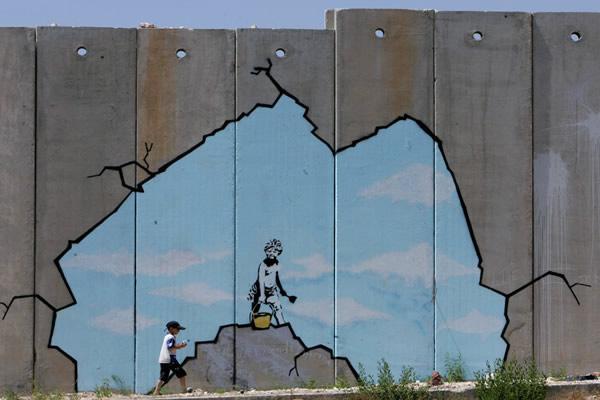 Banksy en Cisjordania