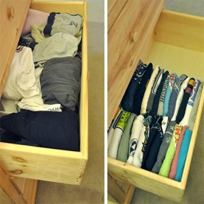 Cómo ordenar la ropa en un cajón