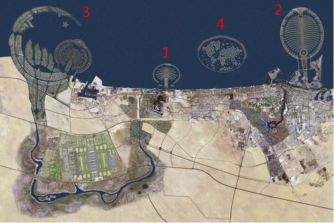 Dubai desde el espacio.