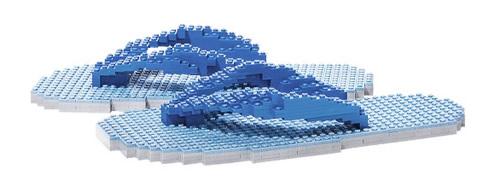 Escultura Lego Chanclas.
