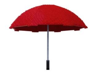Escultura Lego Paraguas.