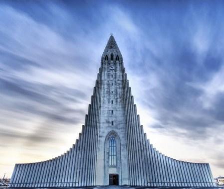 Iglesia Hallgrimur. Islandia.