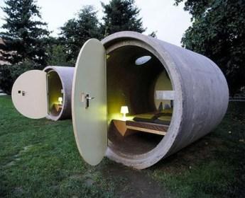 Hotel en Tubos de Drenaje en Austria