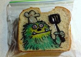 Un padre creativo motiva así a su hijo para comer.