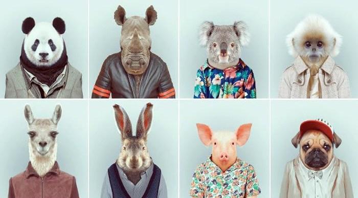 Animales humanizados.