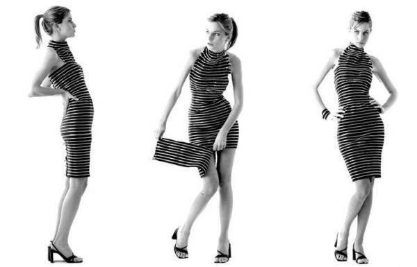 Vestido cremallera transformable.