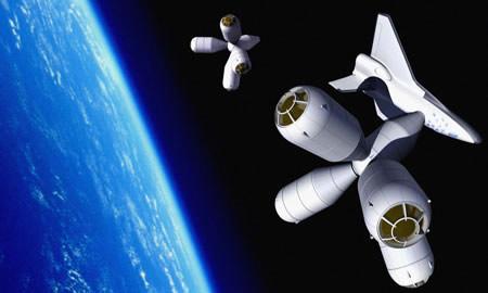 Vacaciones del Futuro. Hotel en el Espacio.