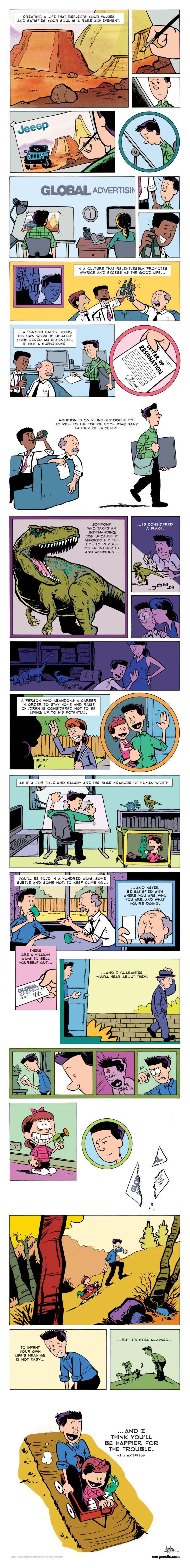 comic reflexión sobre el éxito homenaje a calvin y hobbes watterson