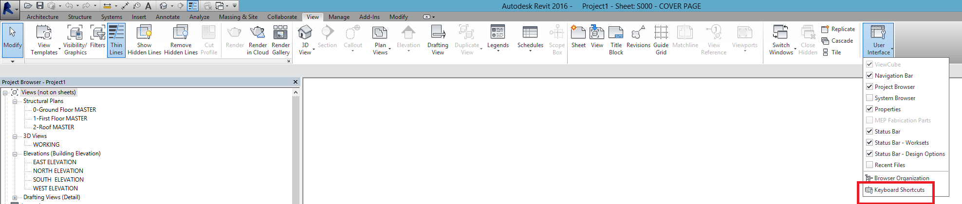 Revit Keyboard Shortcuts - KeyboardShotcuts_View tab