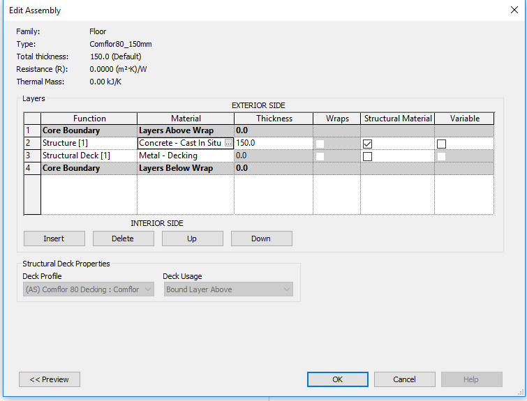 how to create deck revit